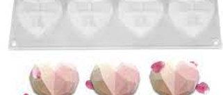 תבנית סיליקון 8 שקעים - יהלום