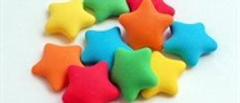 כוכבים צבעוניים מבצק סוכר