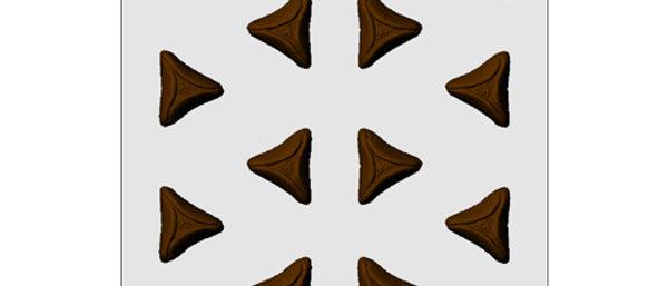 תבנית ליציקת שוקולד -אוזני המן