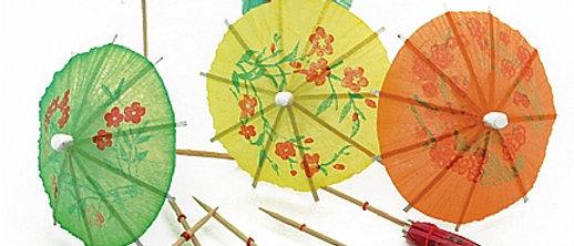 קישוטי קוקטייל -מטריות
