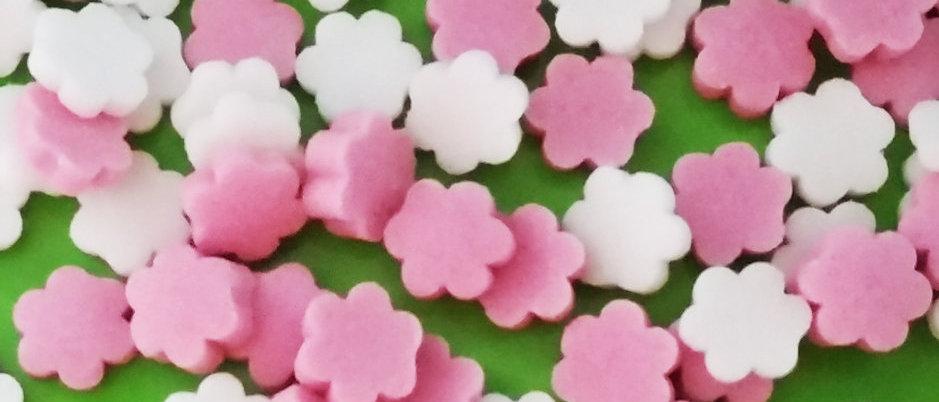 סוכריות פרחים ורוד לבן - צבעים טבעיים
