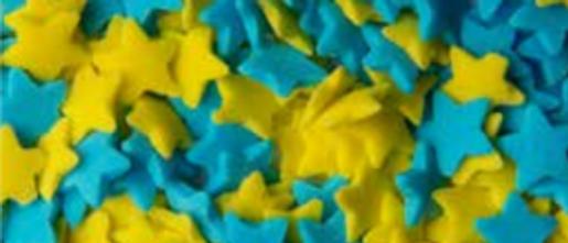 סוכריות כוכבים - צהוב כחול