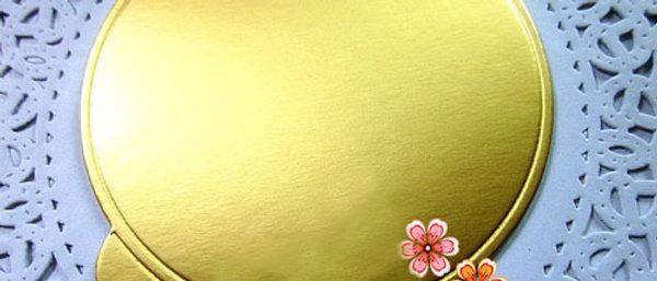 תחתית זהב לקינוחים - עיגול מיני - 125 יחידות