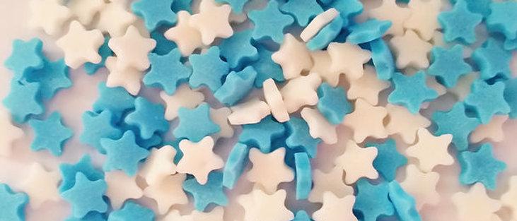סוכריות כוכבים - כחול לבן