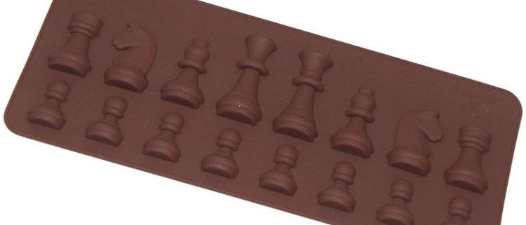 סיליקון לשוקולד - מיני חיילי שחמט