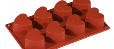 תבנית סיליקון לב - 8 יחידות