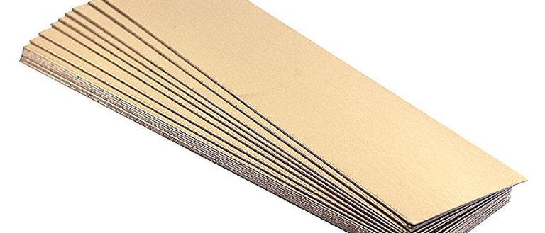 תחתית זהב לקינוחים - מלבן - 100 יחידות