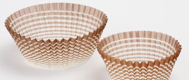 מנג'טים - עטרות נייר מס' 1.5 - חום-לבן 1000 יחידות