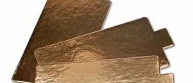 תחתית זהב לקינוחים - מלבן מיני - 125 יחידות