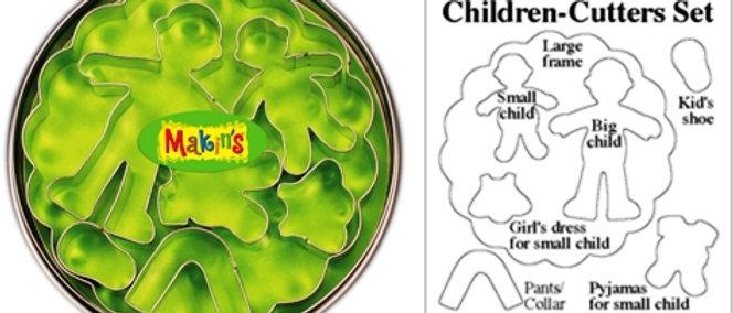 סט חותכני עוגיות -ילדים ובגדים
