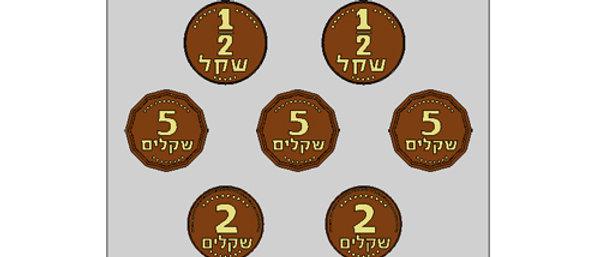 תבנית ליציקת שוקולד - מטבעות