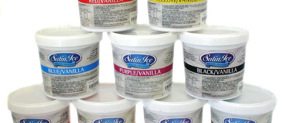 בצק סוכר 1 ק״ג במגוון צבעים SATIN ICE
