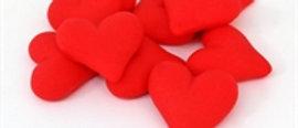 לבבות מבצק סוכר - אדום, ורוד, לבן