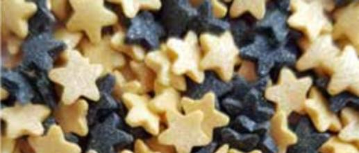 סוכריות כוכבים - זהב שחור