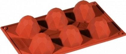 תבנית סיליקון - יהלום - קטן \ גדול