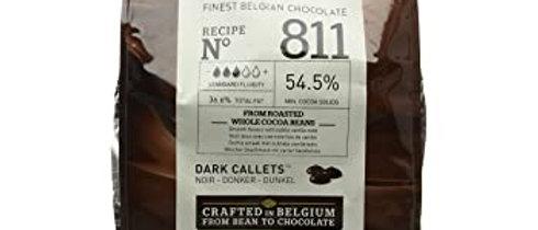 """שוקולד מריר  54.5%  2.5 ק""""ג  Callebaut"""