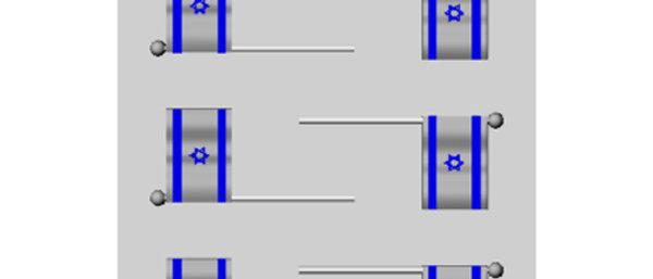 תבניות ליציקת שוקולד - 6 דגל ישראל