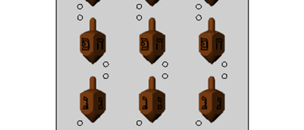 תבנית ליציקת שוקולד - סביבון 3D