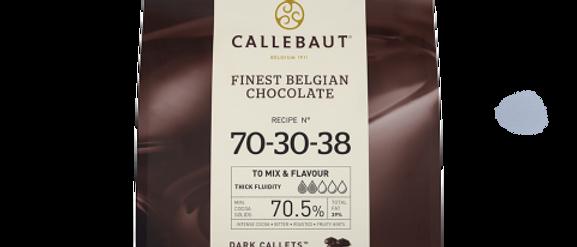 """שוקולד מריר70.5% 2.5 ק""""ג  Callebaut"""