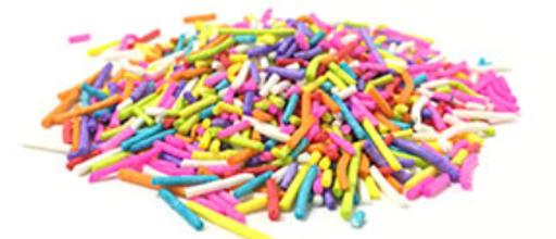 """סוכריות צבעוניות ארוכות במיוחד 1 ק""""ג"""