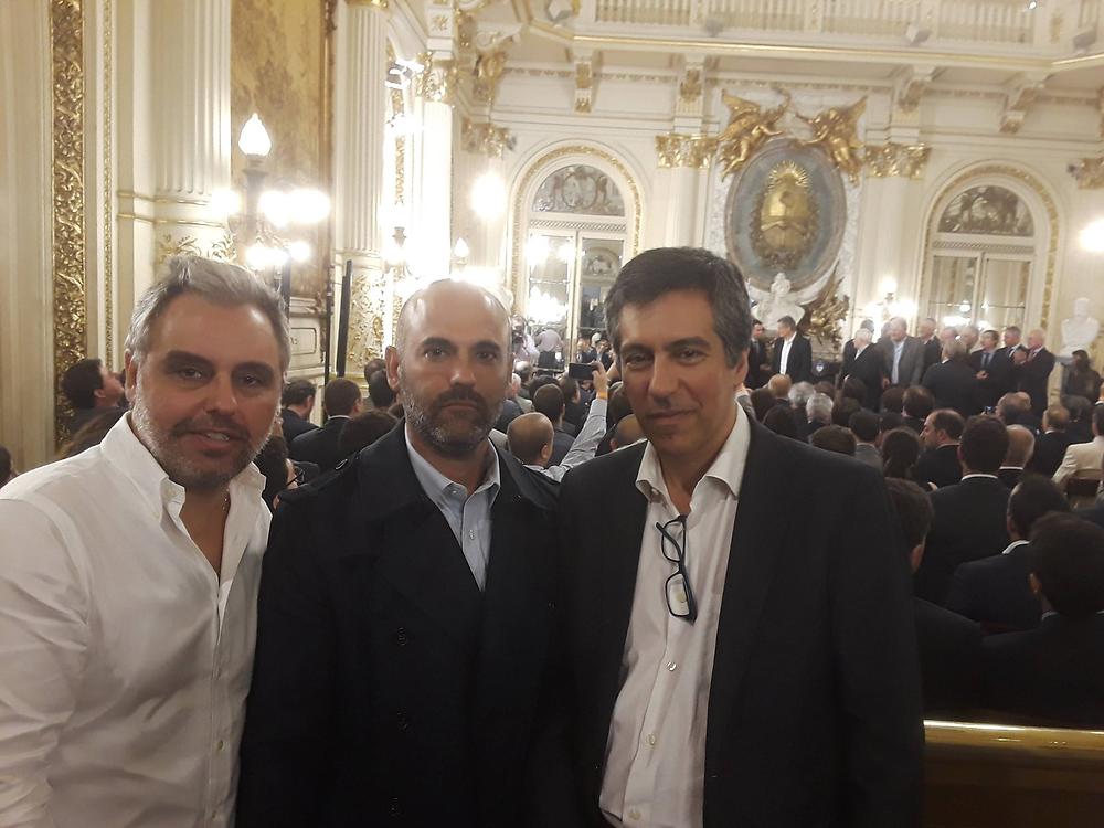 Juan Pablo Bibiloni, Juan Manuel Silgueira e José Basílio Simões