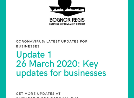 BR BID Coronavirus Update 1: Thursday 26th March 2020