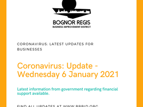 BR BID Update: 6th January 2021 Latest information from Government regarding financial support