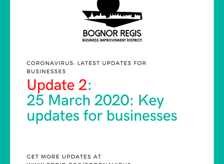 BR BID Coronavirus Update 2: Wednesday 25th March 2020