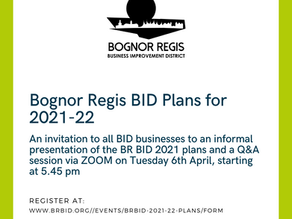 Bognor Regis BID Plans for 2021-22
