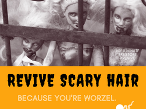 Day 20 ~ Revive Scary Hair, Because you're Worzel.