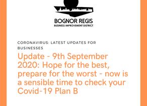 BR BID Newsletter: 9th September: Check your plan