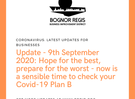 BR BID Newsletter: 9th September: Check your plan
