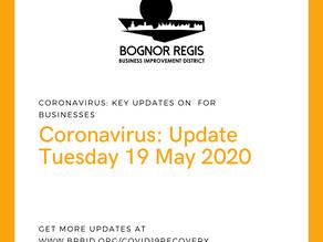 BR BID Coronavirus Update: Tuesday 19 May 2020