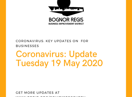 BR BID Coronavirus Update: Tuesday 19 May 2020