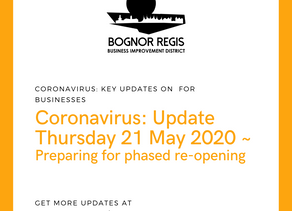 BR BID Coronavirus Update: Thursday 21st May 2020