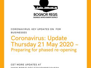 BR BID Coronavirus Update: Thursday 21st May 2020