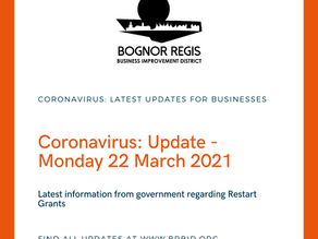 BR BID Coronavirus Update: 22nd March 2021 Restart Grants