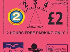 Shout-out to Bognor Regis's 2021 Car Parking Disc retailers!