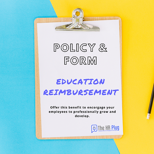 Policy & Form: Educational Reimbursement