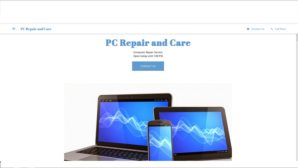 google my business page pcrepairandcare