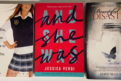 "Teens/YA ""Beautiful Disaster"" Book Stack"