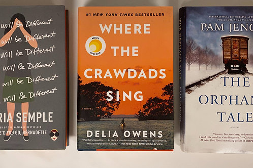"""""""Where the Crawdads Sing"""" Fiction Book Stack"""