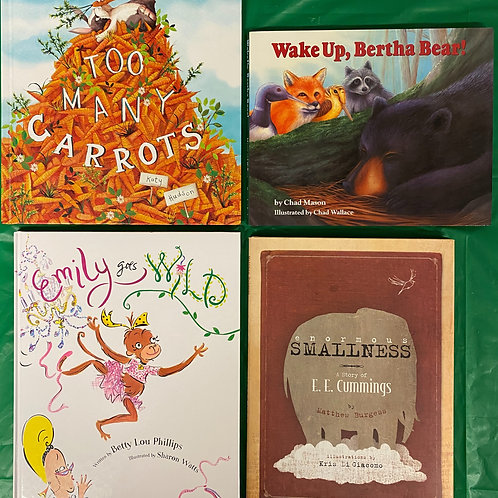 """Preschooler """"Emily Goes Wild"""" Book Stack"""