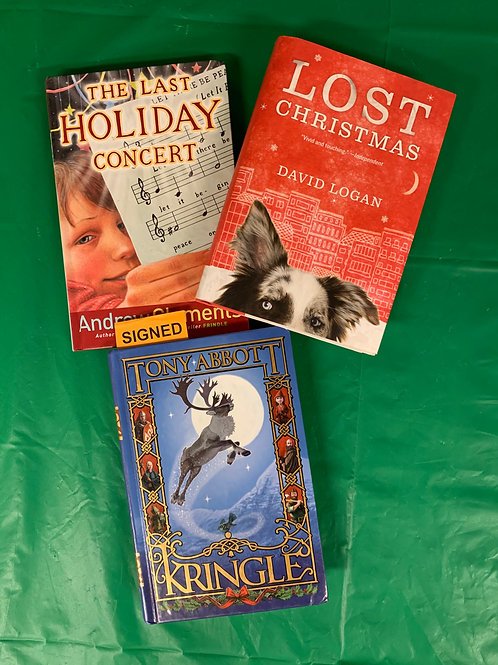 """Grade 4  """"Lost Christmas"""" Book Stack"""