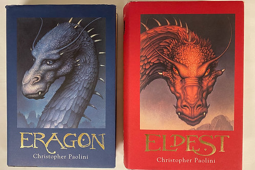 "Middleschooler ""Eragon"" Book Stack"