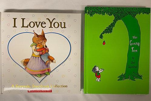 """Preschooler """"The Giving Tree"""" Book Stack"""