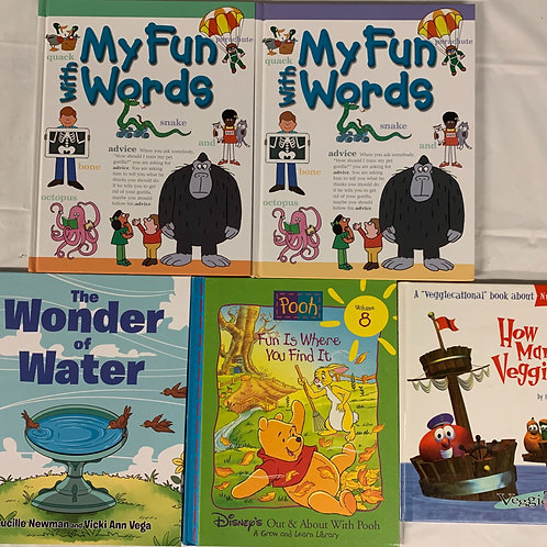 "Preschooler ""Fun With Words"" Book Stack"