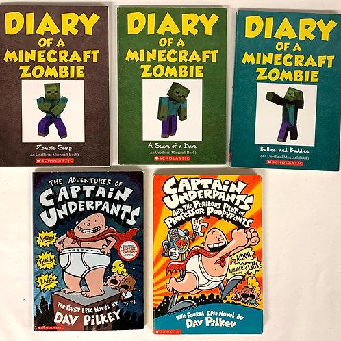 Grade 2 Minecraft Zombie Book Stack