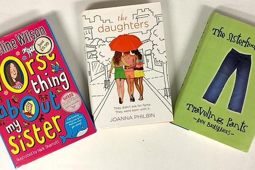 """Middleschooler """"The Daughters"""" Book Stack"""