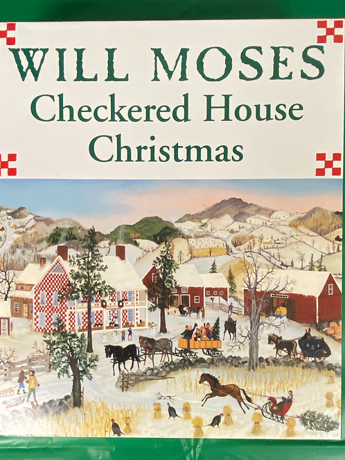 """""""Checkered House Christmas"""" Jigsaw Puzzle"""